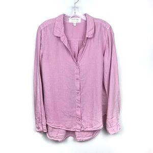 Anthropologie Tops - Anthro | Cloth & Stone Button Down Linen Shirt